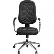 Cadeira de Escritório Presidente Preta Luxo Alto Padrão - Pethiflex
