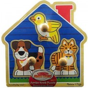 Melissa & Doug Wooden Jumbo Knob Puzzles (House Pets) *** Product Description: Melissa & Doug Wooden Jumbo Knob Puzzles Description: House Petsthese Puzzles Feature Easy Grasp Knobs For Little Hands And Matching Pictures Underneath Each Chunky P ***