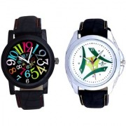 Luxury Green Tri Fan And Spanish Special Colour Digit Quartz Analogue Combo Watch By Google Hub