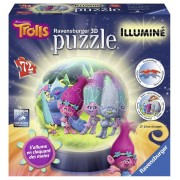 Ravensburger puzzle 3d luminos trolls, 72 piese