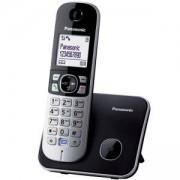 Безжичен DECT телефон Panasonic KX-TG 6811, Сребрист, 1015110