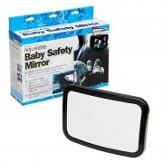 Oglinda interioara suplimentara pentru supraveghere copil cu fixare la tetiera, dimensiuni 28x19cm