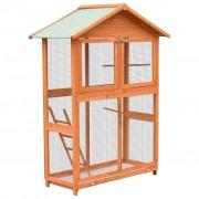 vidaXL Cage à oiseaux Pin massif et bois de sapin 120x60x168 cm