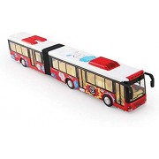 DD RETAILS Kid's Metal Die-Cast Luxury Pull Back Double Decker London Bus with Light and Music, 3 Years(Multi Color)