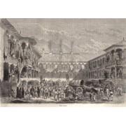 Bucuresti, 1861, Hanul Manuc, poster 595 x 420 mm