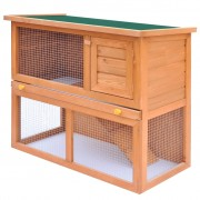 vidaXL Outdoor Rabbit Hutch Small Animal House Pet Cage 1 Door Wood