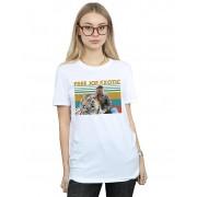Absolute Cult Joe Exotic Women's Free Joe Exotic Photo Boyfriend Fit T-Shirt Blanc XXX-Large