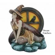 Figurine : Sorcière et Corbeau
