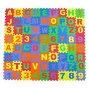 YOYOSTORE Alphabet Letters and Numbers Foam Puzzle Square Blocks Foam Mat