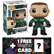 Oliver Queen: Funko POP! x Arrow The TV Series Vinyl Figure + 1 FREE Official DC Trading Card Bundle