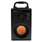 Boxa Portabila Media-Tech Boombox BT, Radio FM, MP3 Player, 15W RMS, cu Subwoofer si 2 Difuzoare Stereo, Incinta Lemn, USB + SD, Telecomanda, Antena