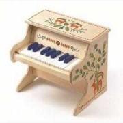 Pian electronic din lemn, Djeco, 18 note
