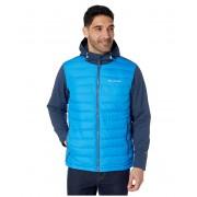 Columbia Powder Litetrade Hybrid Jacket Azure BlueCollegiate Navy HeatherDark Mountain Pop