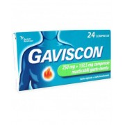 Reckitt Benckiser H.(It.) Spa Gaviscon 24 Compresse Masticabili Menta 250+133,5mg