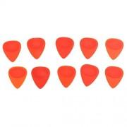 ELECTROPRIME® 6X Set of 10 Thicknesses ABS Bass Guitar Picks Mandolin Ukulele Plectrums Red