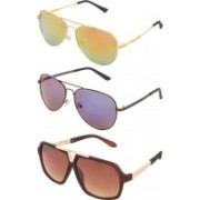 ZOZAN INTERNATIONAL Aviator, Rectangular, Sports, Clubmaster, Wayfarer, Oval, Retro Square Sunglasses(For Boys & Girls)