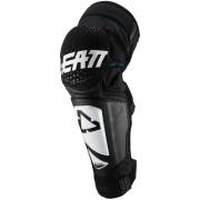 Leatt 3DF Hybrid EXT Crianças joelho/Shin guardas Preto Branco único tamanho
