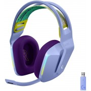 HEADPHONES, LOGITECH G733 LIGHTSPEED, Gaming, Microphone, Wireless, RGB, Lilac (981-000890)