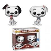 Pop! Vinyl Pack de 2 Figuras Funko Pop! EXC Pongo y Perdita - Disney 101 Dálmatas