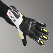 Alpinestars Motorrad-Handschuhe Alpinestars SP-8 V2 Schwarz-Weiß-Gelb