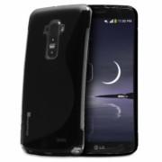Силиконов гръб S-Line за LG G Flex Черен
