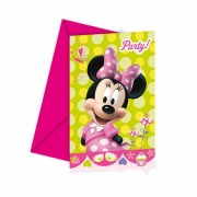 Lobbes Uitnodigingen Minnie Mouse, 6st.