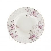 Porcelán levesestányér 235mm, Ditsy Floral fehér
