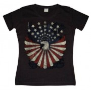 Eagle Flag With Stars Girly T- shirt