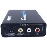 Tech Gear 1080P HDMI To 3 RCA AV CVBS Composite S-Video R/L Audio Converter Adapter