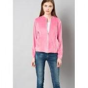 Raabta Baby Pink Velvet Jacket