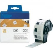 Printflow Compatível: Etiquetas Brother branco 23mm x 23mm 1000 un (DK-11221)