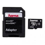 Card Hama Micro SDXC 64GB clasa 10 cu adaptor