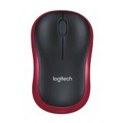 Logitech M185 RF Wireless Optical 1000DPI Ambidextrous Black,Red mice