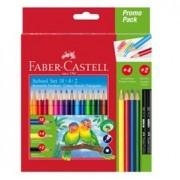 Creioane Colorate Triunghiulare 18+4+2 Faber-Castell