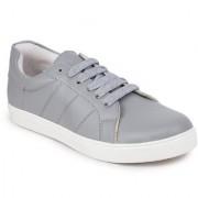 Picktoes Women Casualwear Grey Lace-up Sneaker