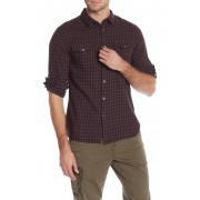 John Varvatos Star USA Check Print Regular Fit Shirt RUBY