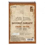 Second Nature Spiral Reporter/steno Book, Gregg, 6 X 9, White, 70 Sheets