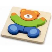 Drvene puzzle 4 dijela - medvjedić