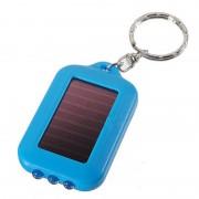 Solárna LED klúčenka v modrej farbe