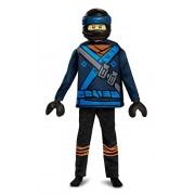 Jay LEGO Ninjago Movie Deluxe Costume, Blue, Medium (7-8)