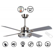 KlassFan LBA Home, Blizzard Bis a ceiling fan design silver / white blades 51.9in, with LEd and remote control
