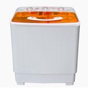 Masina de spalat rufe semiautomata Vortex VO1500, Spalare 6 kg, Stoarcere 5 kg, Alb/Portocaliu