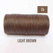 Macrame Koord - LICHT BRUIN / LIGHT BROWN - Waxed Polyester Cord - Klos 914 cm - 1mm dik