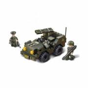 Stavebnice Sluban Army Jeep s dvouhlavňovým dělem M38-B5800