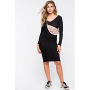 CheapChic Daily Brushed Column Dress Black