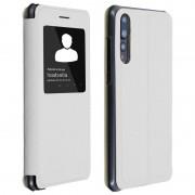 Avizar Capa Livro com Janela Branca para Huawei P20 Pro