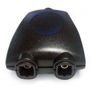DSP-OPT-01 Toslink optical signal spliter, 2 ports, black