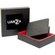 lianza leathers Men Casual, Formal Black Genuine Leather Wallet(6 Card Slots)
