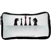 Snoogg Amazing Chess Quote Poly Canvas Student Pen Pencil Case Coin Purse Utility Pouch Cosmetic Makeup Bag