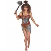 Vegaoo Steinzeit Höhlenmensch-Kostüm für Damen